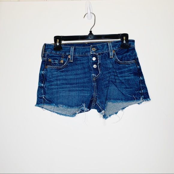 Levi's Pants - Levi's 501 Cut Off Jean Shorts with  Button Fly